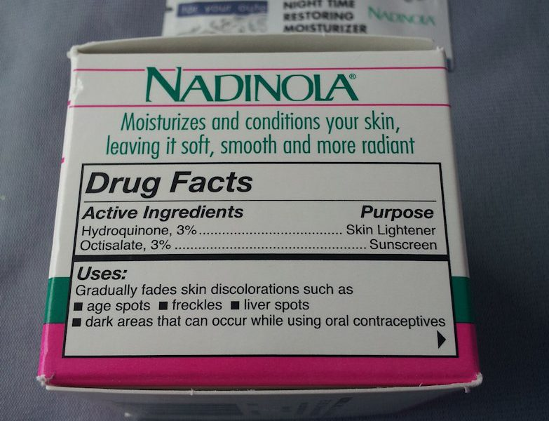 Nadinola INgredients
