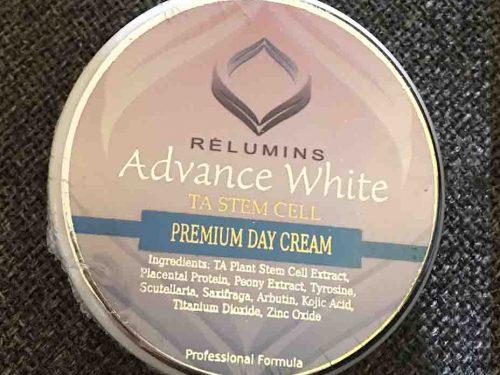 كريم Relumins Advanced لتفتيح البشره مقابل Zeta white