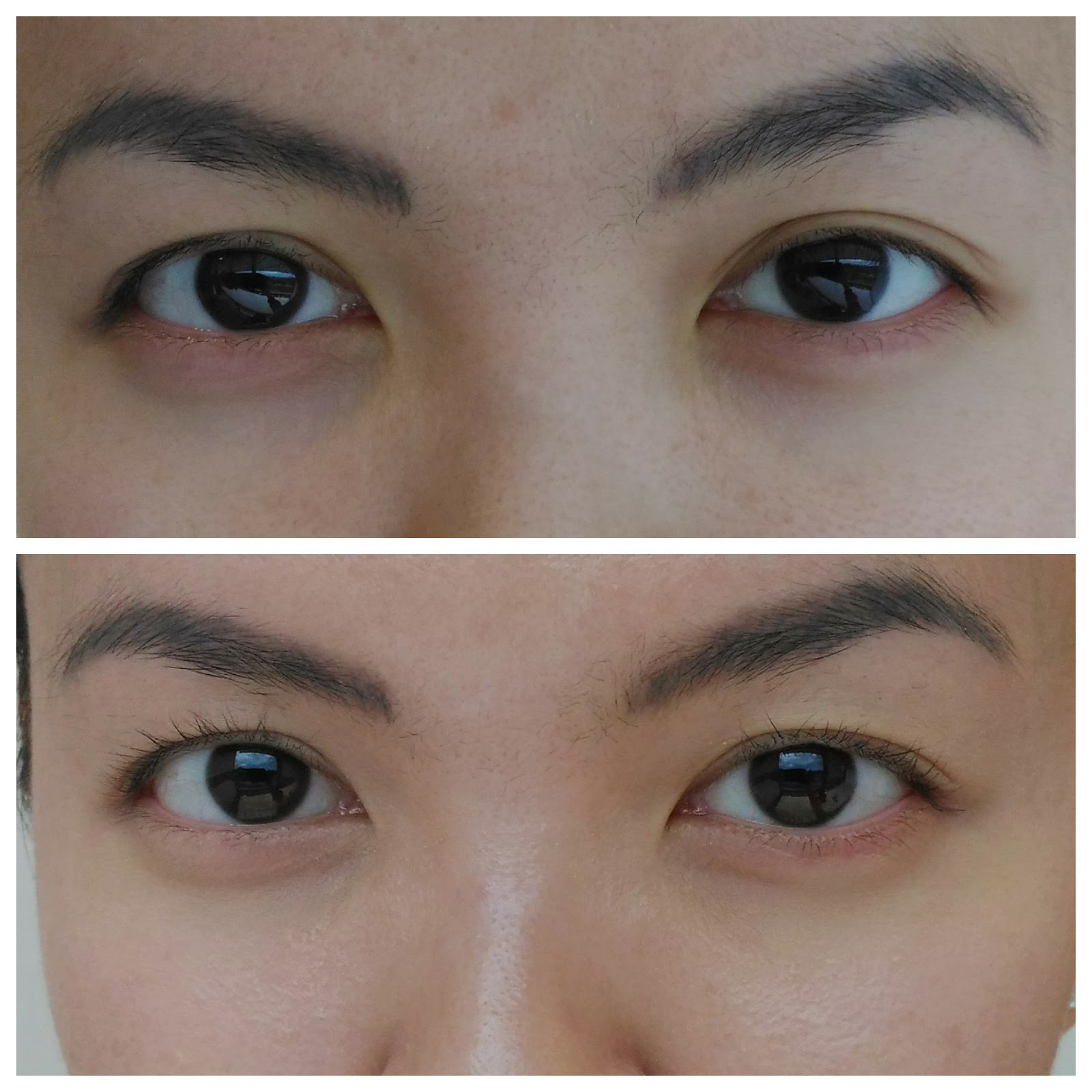 قبل و بعد استخدام كريم العين